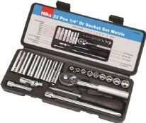 Hilka 1/4 Inch Drive Socket Set Metric - 22 Piece